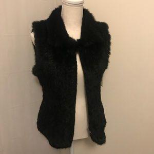 Valerie Stevens Black Fur Vest